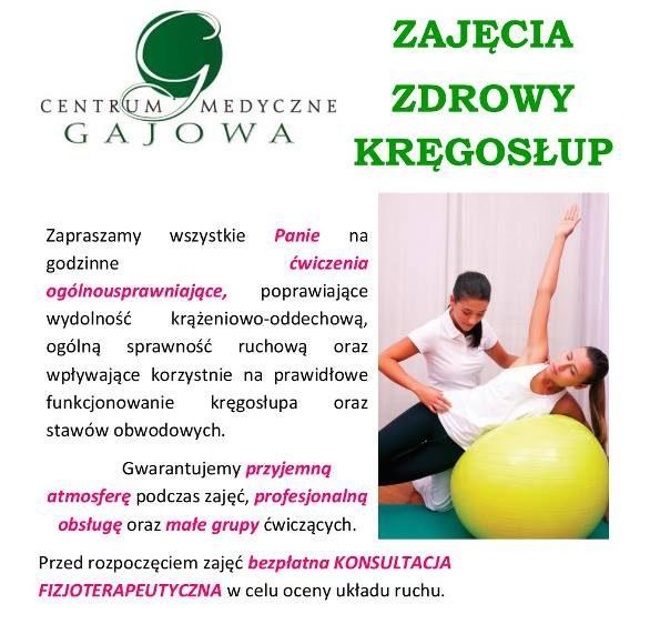 Centrum Medyczne Gajowa Białystok zajęcia zdrowy kręgosłup